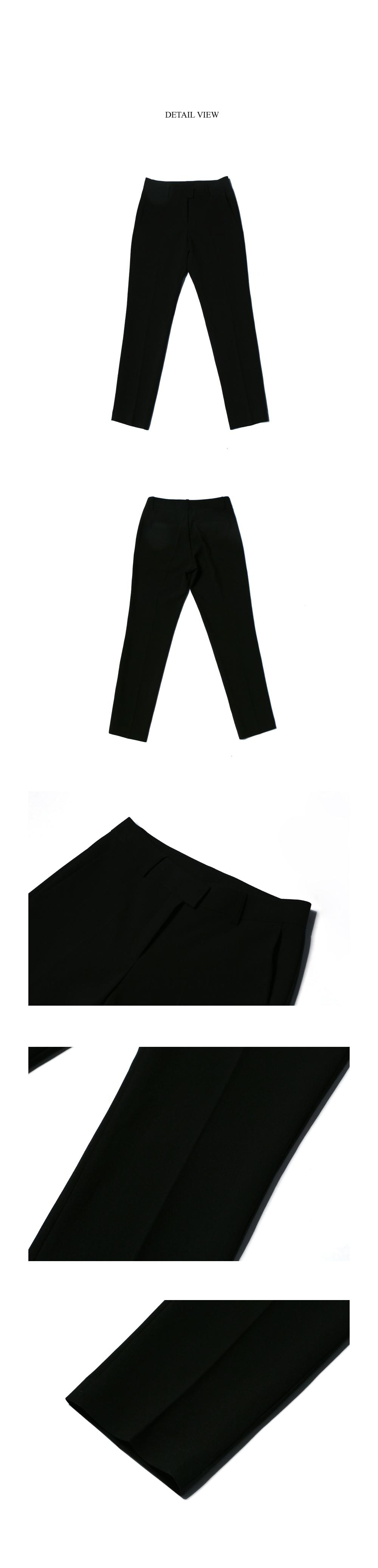 딘스 CLEAN STAND STRAIGHT SLACKS_BLACK